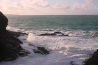 Rough sea at Backways Cove