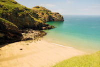 Bossiney Haven near Tintagel, photographed at low tide