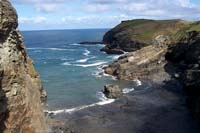 Tintagel Haven - the beach next to Tintagel Castle in North Cornwall