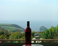 View from Haywain's double bedroom over Trebarwith Valley