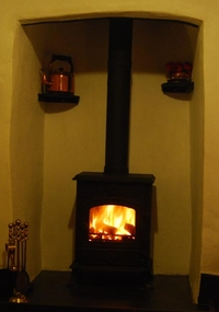 Woodburner in Haywain