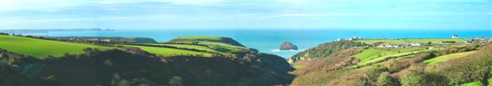 Panoramic view from Park Farm Cottages