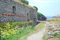 Old pichard sheds at Port Quin in North Cornwall